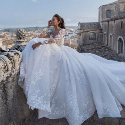 Chic wedding dresses princess | Wedding dresses with lace_4