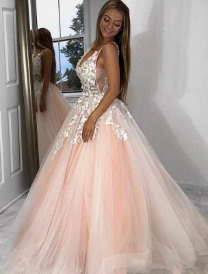 Elegant evening dresses long pink | Prom dresses with lace_2