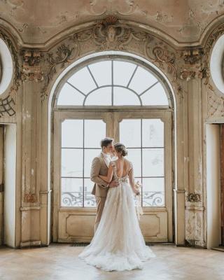 Schlichtes Hochzeitskleid Spitze | Boho Brautkleider Günstig_7