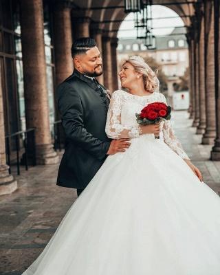 Prinzessin Brautkleider mit Ärmel   Hochzeitskleider Online Kaufen_2