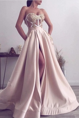 Champagne Prom Dresses Long Cheap | Evening dresses online