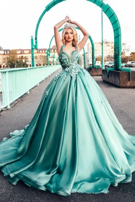 Lighter green evening dresses | Prom dresses long cheap_1