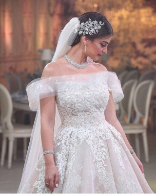 Beautiful wedding dresses A line | Wedding Dresses Lace Online_3