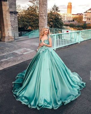 Lighter green evening dresses | Prom dresses long cheap_5