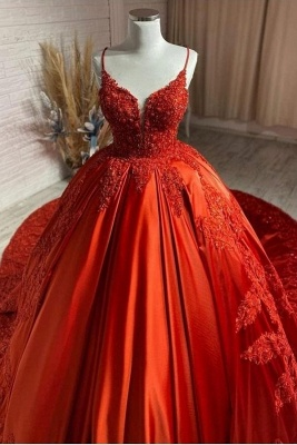 Red Wedding Dresses Cheap | Princess wedding dresses with lace