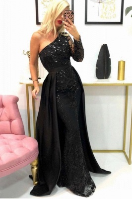 Designer Evening Dresses Long Black | Prom dresses with glitter