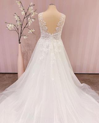 Schlichtes Brautkleid A linie | Boho Hochzeitskleider_3