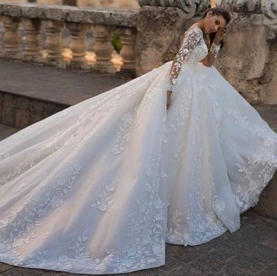 Schicke Hochzeitskleider Prinzessin   Brautkleider Mit Spitze_3