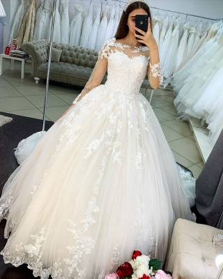 Princess wedding dresses lace | Wedding dresses with sleeves_3