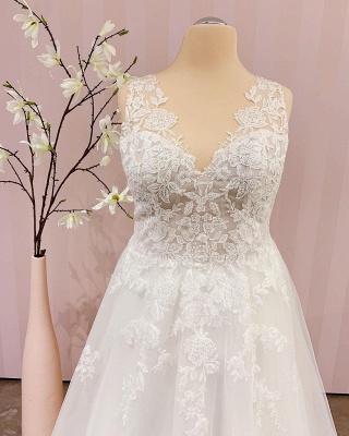 Schlichtes Brautkleid A linie | Boho Hochzeitskleider_2