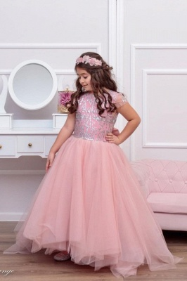 Pink Flower Girl Dresses Cheap | Children's wedding dresses