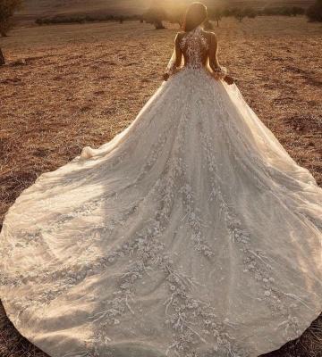 Extravagante Hochzeitskleider Mit Spitze | Brautkleider Lange Ärmel_3