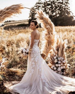 Designer Hochzeitskleider Meerjungfrau | Schlichtes Brautkleid Spitze_3