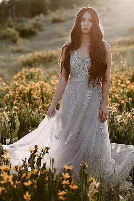 Elegant Evening Dresses Long V Neck | Prom dresses with lace_13