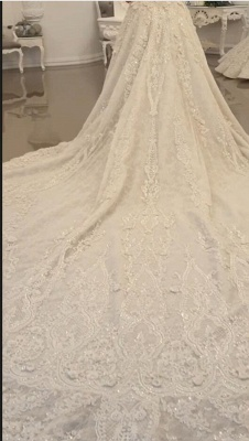 Extravagant wedding dresses A line | Wedding dresses with lace_4
