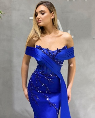 King Blue Evening Dresses Long Cheap | Prom dresses online_2