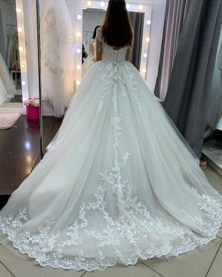 Princess wedding dresses lace | Wedding dresses with sleeves_4