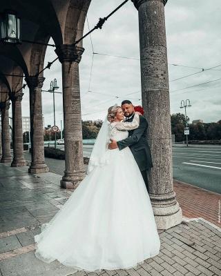 Prinzessin Brautkleider mit Ärmel   Hochzeitskleider Online Kaufen_3