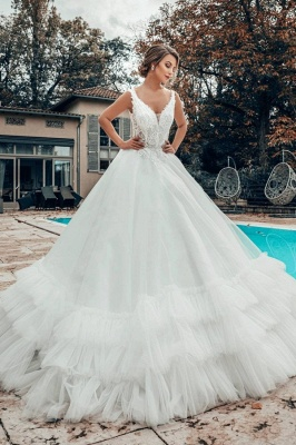 Elegant wedding dresses A line | Wedding dresses tulle