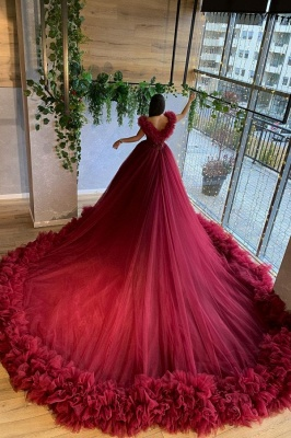 A line red wedding dress | Order cheap wedding dresses