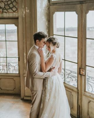 Schlichtes Hochzeitskleid Spitze | Boho Brautkleider Günstig_2