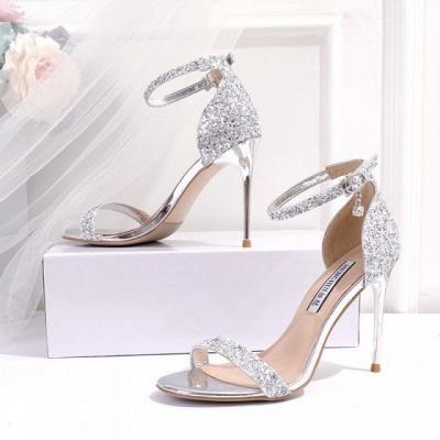 Wunderschöne Brautschuhe Glitzer | Schuhe zur Hochzeit
