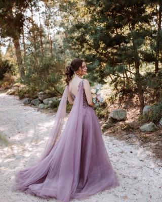 Schöne Abendkleider Lang V Ausschnitt | Abiballkleider mit Glitzer_2