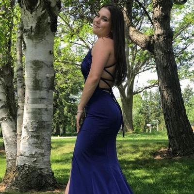 Evening dresses dark blue | Prom dresses cheap_2
