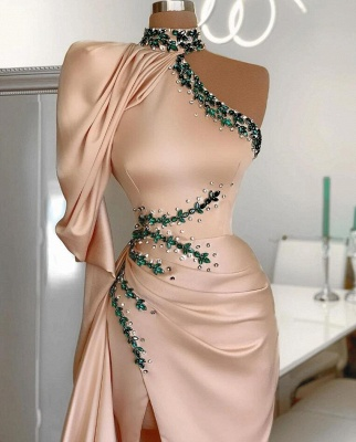 Designer Prom Dresses Long Cheap | Evening dress with sleeves_2