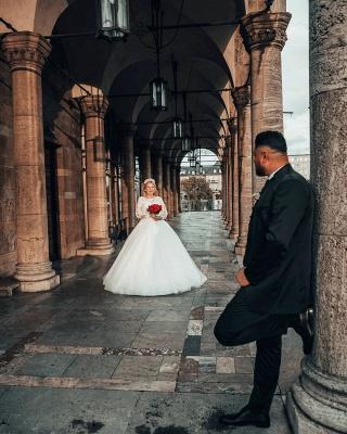Prinzessin Brautkleider mit Ärmel   Hochzeitskleider Online Kaufen_5