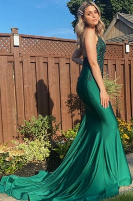 Evening dress dark green | Prom dresses long cheap_1