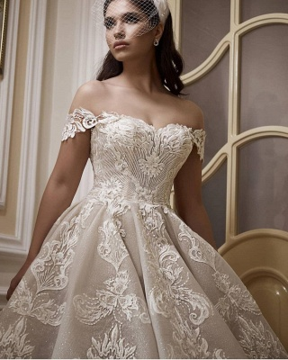 A line lace wedding dress | Wedding Dresses Cheap Online_3