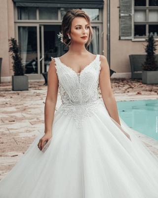 Elegante Brautkleider A Linie | Hochzeitskleider Tüll_5