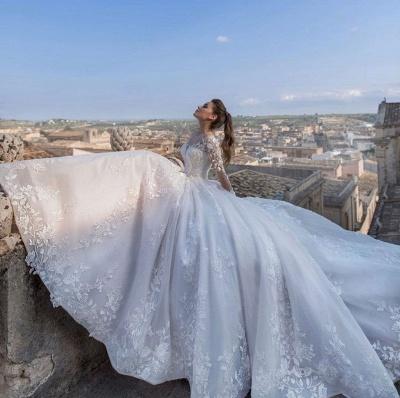 Schicke Hochzeitskleider Prinzessin   Brautkleider Mit Spitze_2