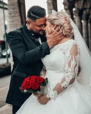Prinzessin Brautkleider mit Ärmel   Hochzeitskleider Online Kaufen_4