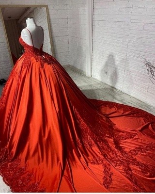 Red Wedding Dresses Cheap | Princess wedding dresses with lace_2