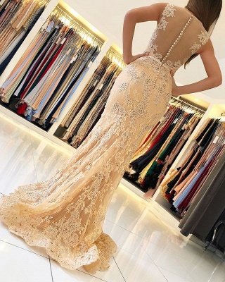 Elegant evening dresses with lace | Prom dresses long cheap_2