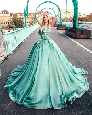 Lighter green evening dresses | Prom dresses long cheap_2