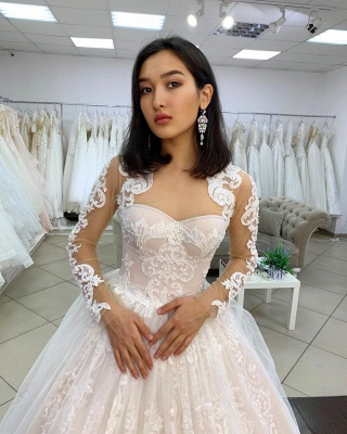 Princess wedding dresses lace | Wedding dresses with sleeves_2