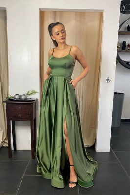 Designer evening dresses green | Prom dresses long cheap