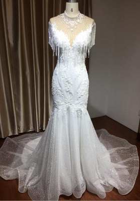 Wunderschöne Hochzeitskleider Meerjungfrau Spitze   Brautkleider Luxus_3