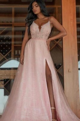 Evening dress long pink | Prom dresses with glitter_1
