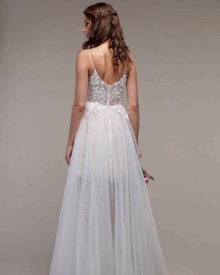 Schlichtes Hochzeitskleid Günstig | Boho Wedding Dresses_2