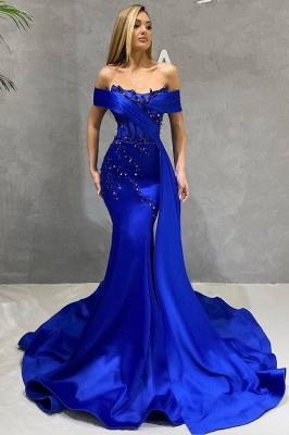 King Blue Evening Dresses Long Cheap | Prom dresses online