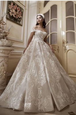 A line lace wedding dress | Wedding Dresses Cheap Online_1
