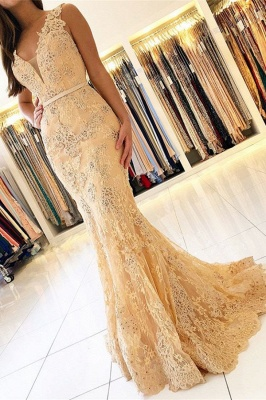 Elegant evening dresses with lace | Prom dresses long cheap_1
