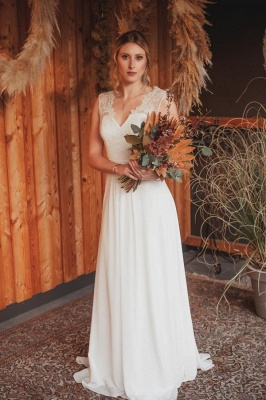 Simple wedding dress with lace | Boho wedding dresses online