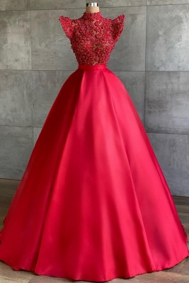 Designer Evening Dresses Long Cheap | Red prom dresses_1