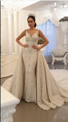 Extravagant wedding dresses A line | Wedding dresses with lace_1