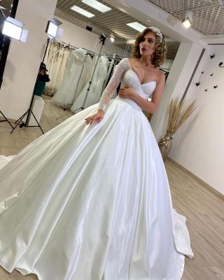 Luxus Brautkleider Prinzessin | Hochzeitskleider mit Ärmel_2